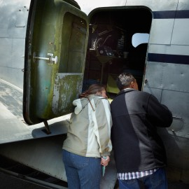 Looking Into A WWII Bomber by Peter Adams.