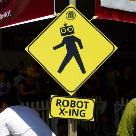 Robot Crossing by Peter Adams.
