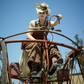 Steampunk Bicyclist by Peter Adams.