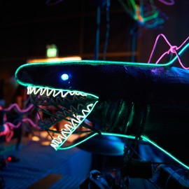 Neon Shark by Peter Adams.