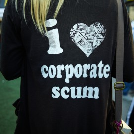I Love Corporate Scum by Peter Adams.