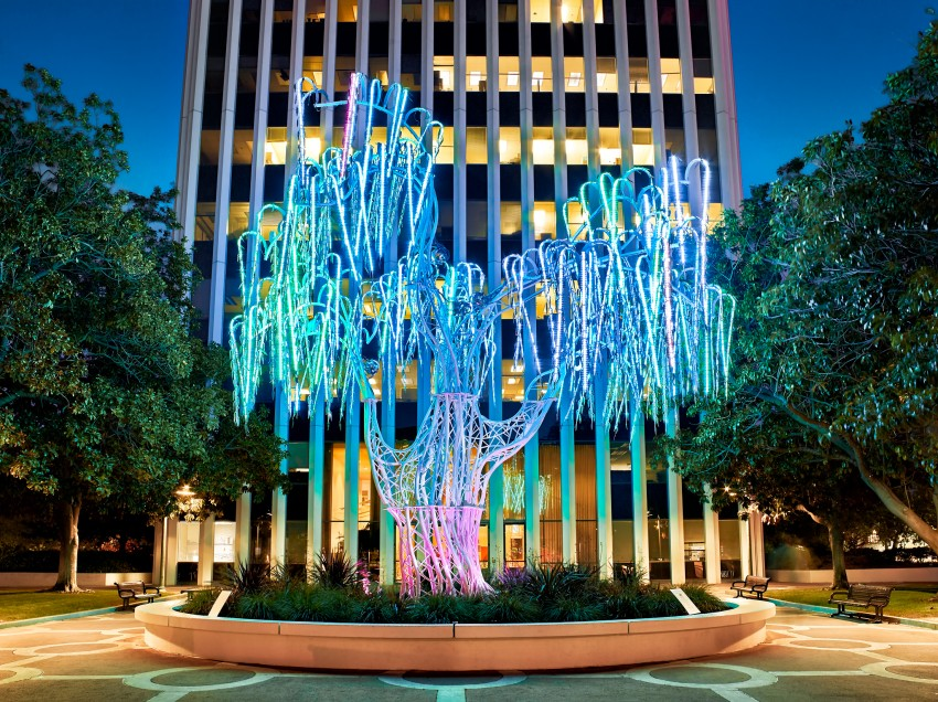 Aurora Light Sculpture by Peter Adams.