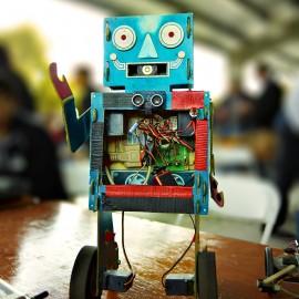 Handmade Robot by Peter Adams.