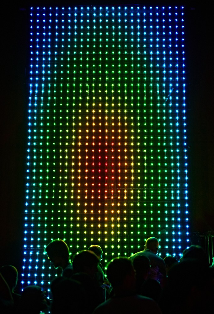 Giant LED Light Show by Peter Adams.