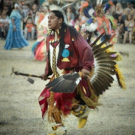 Powwow Dancer by Peter Adams.