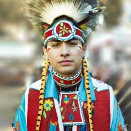 Native American Powwow Dancer by Peter Adams.
