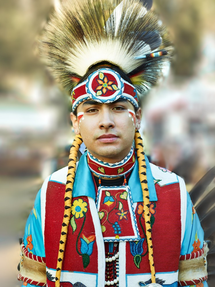 Native American Powwow Dancer by Peter Adams.