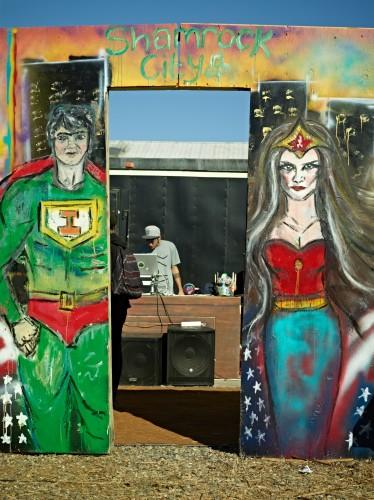 Super hero Street Fair by Peter Adams.