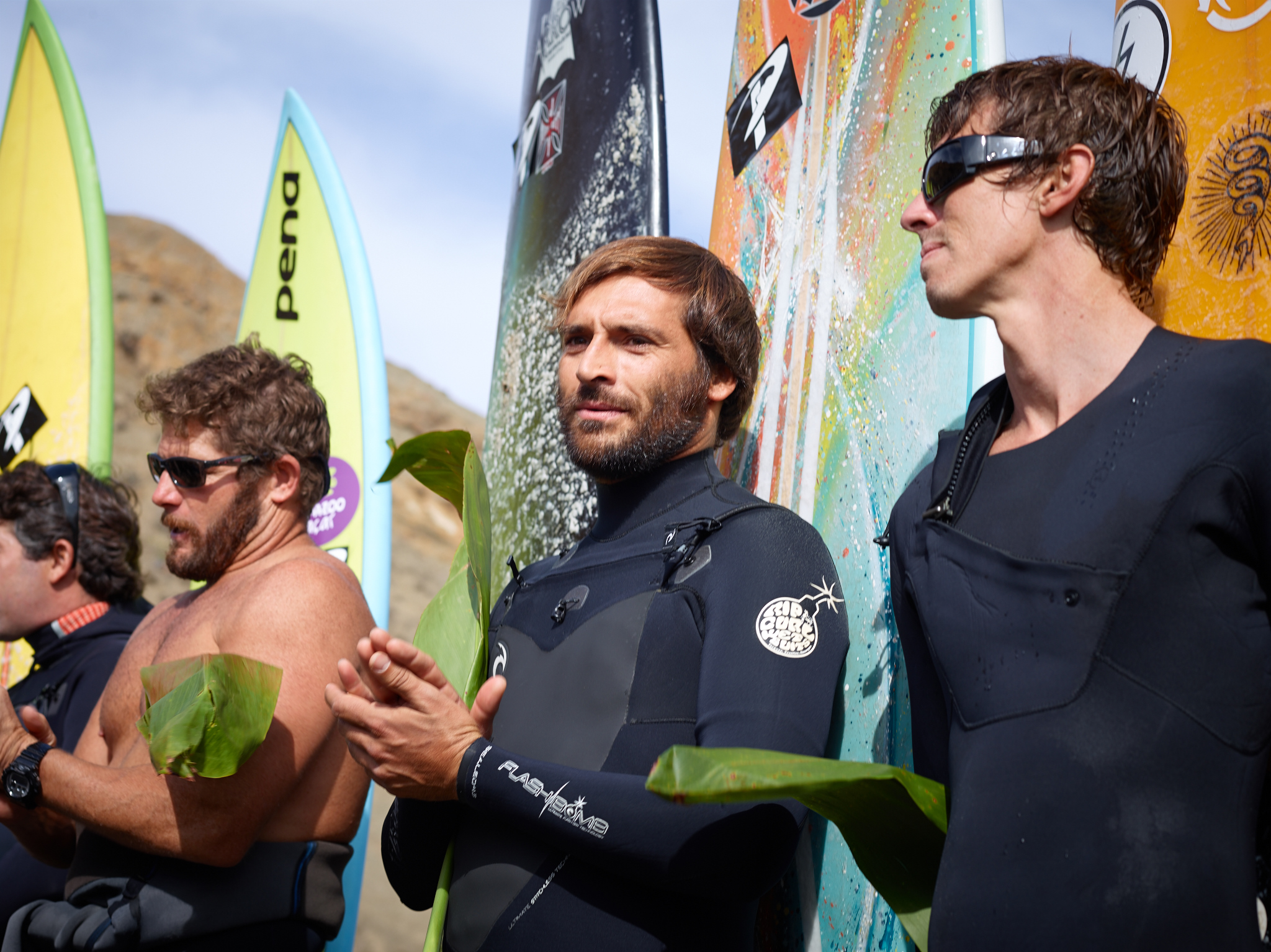 Mavericks Invitational 2013 Opening Ceremony by Peter Adams.