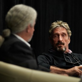 John McAfee by Peter Adams.